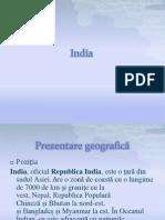 India Proiect geografie