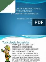 TOXICOS CON POTENCIAL DE DAÑO