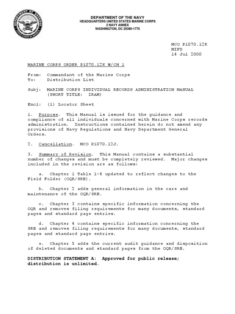 Uncategorized Counseling Worksheet Usmc mco p1070 12k w ch 1 pdf courts martial in the united states military discharge