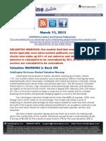 130311 Valuation Valuation WARNING is Back ONWarning