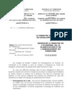 Rencontre Ministres Amchud (Note Au Minepat)