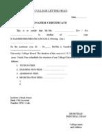 Format of bonafide student certificate bonafide certificate yelopaper Gallery