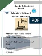 Clement Y Desormes