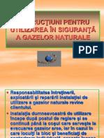 INSTRUCŢIUNI PENTRU UTILIZAREA ÎN SIGURANŢĂ A GAZELOR NATURALE