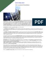 Instalatie de Curent Electric Cu Panouri Fotovoltaice