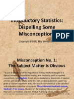 Introductory Statistics - Some Misconceptions