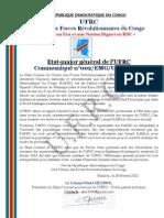 UFRC Press release from Bukavu on 2013 February 28