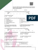 Cuestionario sobre uso de Internet 2º ESO