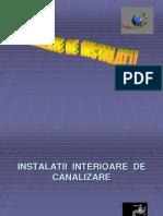 Instalatii interioare de canalizare