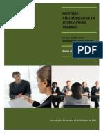 Factores Psicologicos de La Entrevista de Trabajo