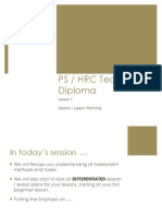 Lesson 7 - Lesson/Session Planning