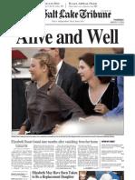 Elizabeth Smart found front page - The Salt Lake Tribune