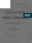 Cugetare şi faptă germană - N. IORGA