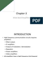 Chapter-3 Wideband Amplifier