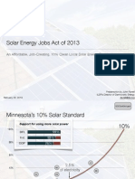 Solar Energy Jobs Act of 2013 - Bill Presentation
