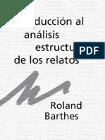 BARTHES ROLAND - Introduccion Al Analisis Estructural de Los Relatos