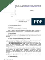 Exemple de Cahier de Charges Fonctionnel | Fichier informatique | Entrepreneur principal
