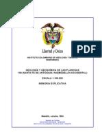 Geologia de Santa Fe de Antioquia