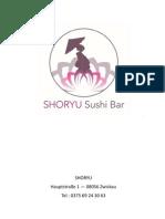 SHORYU Menü