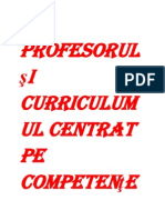 profesorul si curriculum centrat pe competente