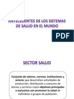 Antecedentes Sistemas Salud Mundo-2013