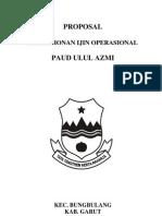 Proposal Ijin Operasional Paud Ulul Azmi