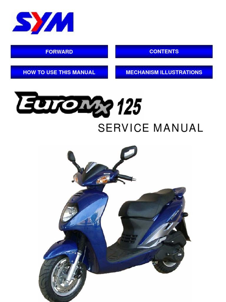 sym euro mx 125 en carburetor motor oil rh scribd com SYM HD2 Wolf 150 Motorcycle