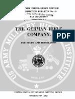 1942 US Army WWII German Rifle Company 390p.