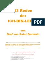 Die 33 Reden Von St Germain