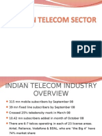Porter analysis of Indian Telecom Industry