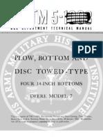 1943 US Army WWII Deere Model 7 Field Plow Bottom Disc 42p.
