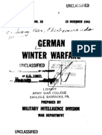 1943 US Army WWII German Winter Warfare 246p.