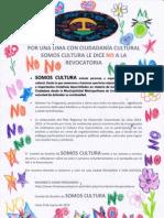 El ¡NO! del Movimiento Somos Cultura