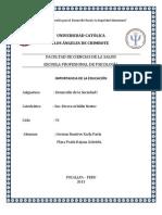 IMPORTANCIA DE LA EDUCACIÓN OFICIAL