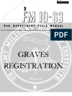 1945 US Army WWII Graves Registration Manual 62p. FM 10-63