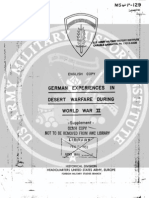 1953 US Army WWII German Experience Desert Warfare 98p.