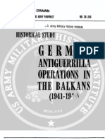 1954 US Army WWII German Anti Guerrilla in Balkans 94p.