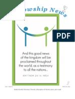 March 10, 2013 Fellowship News