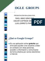 D6 - Google Groups (Power Point)