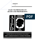 Army Basic Mathematics IV Ratio and Proportion