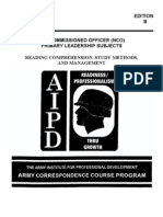 Army Reading Comp.study Methods , Time Management