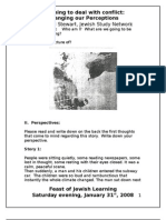 Handout for Feast of Jewish Learning Perceptions for PARTCIANTS