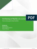 Backup of Mysql on a Linux Vm 2