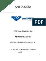 ANTOLOGÍA DE ADMINISTRACIÒN I.doc