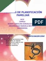 MÉTODOS DE PLANIFICACIÓN FAMILIAR