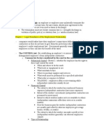 employment law outline