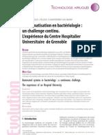 L'automatisation en bactériologie