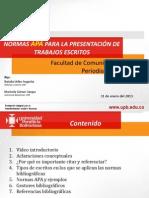 Normas APA Facultad Comunicacion