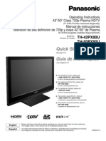 Panasonic TH42PX80U Manual