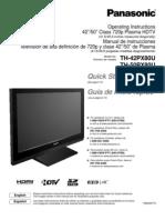 Panasonic TH42PX80U Manual